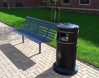 Bespoke Bench and Bin AM235